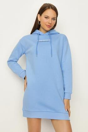 ALLURE BACK PRINT SWEAT DRESS