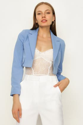 ALLURE CROPPED CO-ORD TAILORED JACKET