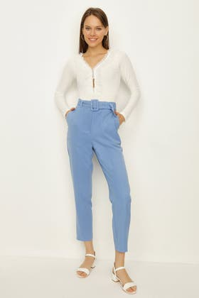 ALLURE SELF BELTED CO-ORD TROUSER