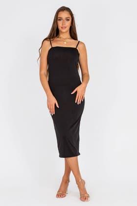 BLACK Cami Maxi Dress
