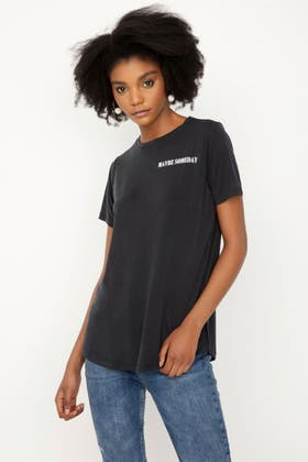 BLACK MAYBE SOMEDAY CUPRO TEE