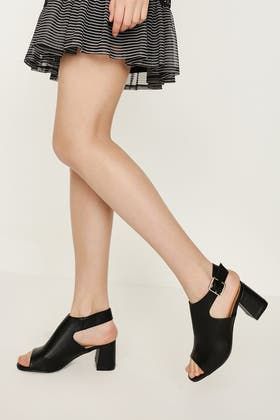 BLACK UP FRONT SHOE BOOT