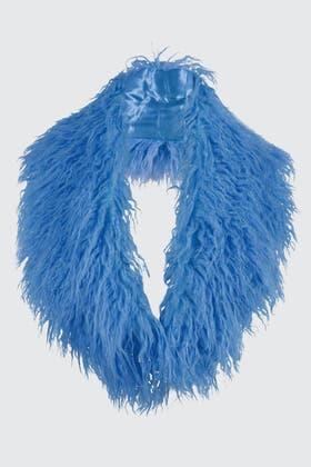 BLUE MONGOLIAN SCARF
