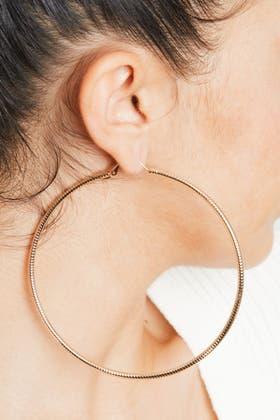 BRONZE Plain Hoop Earrings