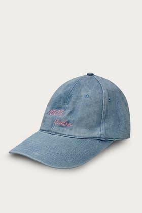 CHAMBRAY BLUE 100% BABE SLOGAN CAP