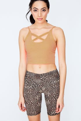 CLAY CROSS STRAP FRONT CAMI