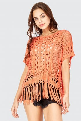 CORAL KNOT STITCH CROCHET TOP