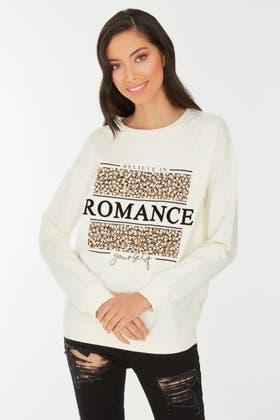 ECRU BELIEVE IN ROMANCE SWEAT
