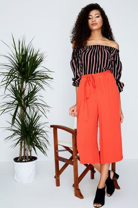 FIRE BELTED SOFT CREPE CULOTTE