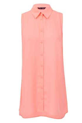 FLURO MELON LONGLINE SLESS LOTUS SHIRT