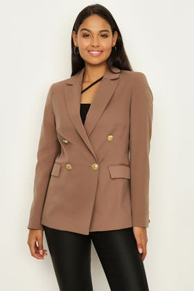 FRAPPE DOUBLE BREASTED GOLD BUTTON JACKET