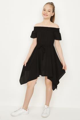 BLACK GIRLS BARDOT DRESS