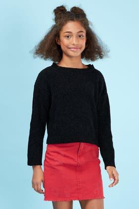 BLACK GIRLS CHENILLE JUMPER