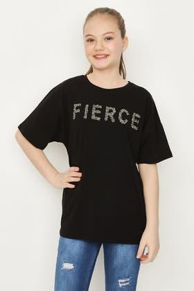 BLACK GIRLS FIERCE EMBROIDERED T-SHIRT