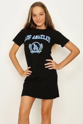 BLACK GIRLS LA T-SHIRT DRESS