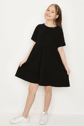 BLACK GIRLS SMOCK DRESS