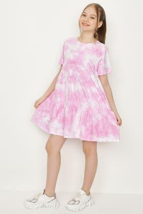 MULTI GIRLS SMOCK DRESS