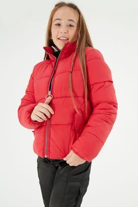 RED GIRLS PADDED COAT