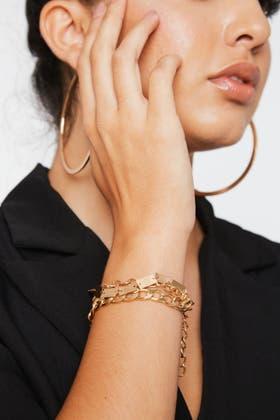 GOLD 2PCS Decor Bracelets