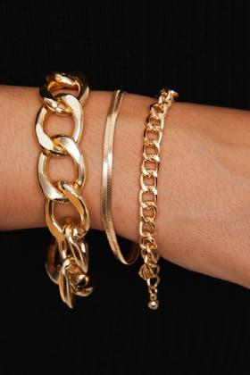 GOLD 3pcs Bracelets