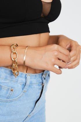GOLD Chain 2PCS Bracelet