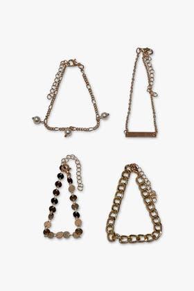 GOLD Faux Pearl Bracelets