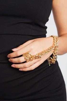 GOLD Finger Chain Bracelet