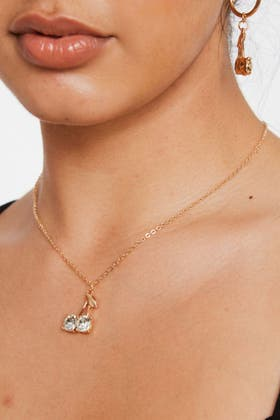 GOLD Matching Necklace and Earrings