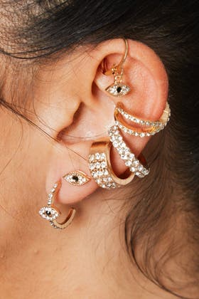 GOLD Mix And Match Earing Set