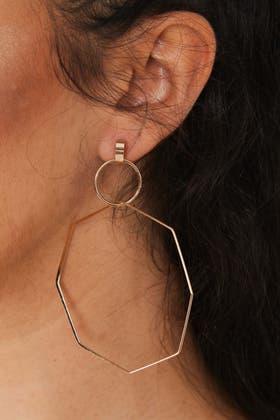 GOLD Polygon Lightweight Earrings