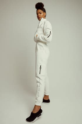 IVORY LIMITED EDITION ZIP DETAIL JOGGER