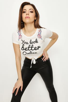 IVORY YOU LOOK BETTER ONLINE TOP