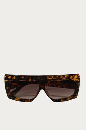 LEOPARD Chunky Frame Square Sunglasses