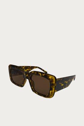 LEOPARD Square Acrylic Sunglasses