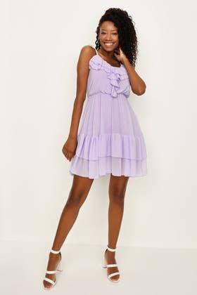 LILAC Frill Cami Mini Dress