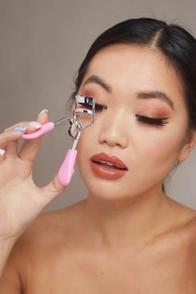 PINK Blue eyelash curler