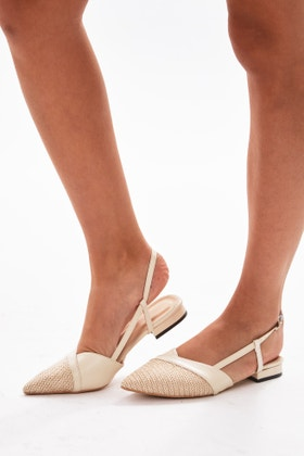 STONE POINTED TOE SANDALS