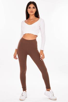BROWN Skinny super soft super stretch leggings