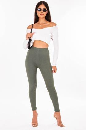 GREEN Skinny super soft super stretch leggings