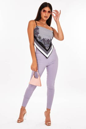 GREY Highwaisted stretch jeggings with thick waist band