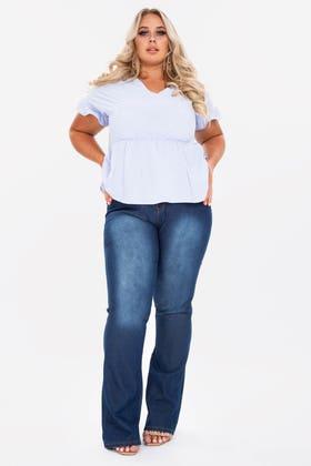 MIDWASH PLUS Denim flared jeans