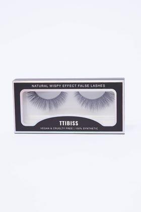 BLACK Dramatic wispy effect false lashes