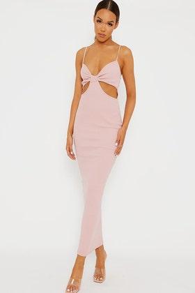 NUDE Cut Out Ribbed Cami Maxi Dress