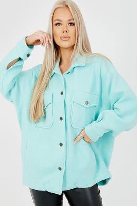 MINT Plain Classic Thick Shirt Jacket Shacket