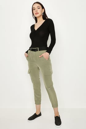 MOSS UTILITY D RING WOVEN TROUSERS
