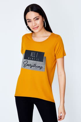 MUSTARD ALL I WANT IS EVERYTHING GLITTER TOP