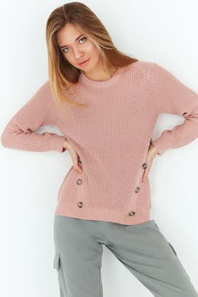 NUDE BUTTON FROINT JUMPER