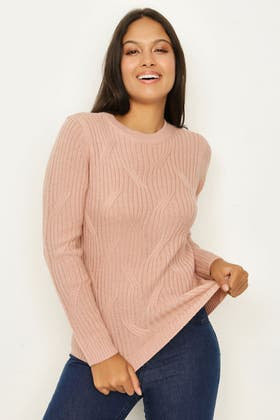 NUDE LARGE CABLE KNIT JUMPER