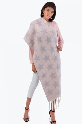 NUDE STAR PRINT HEAVY WEIGHT SCARF