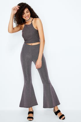 PINK GLITTER CO-ORD FLARES